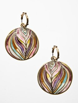 So Trippy Disc Earrings