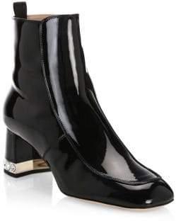 Miu Miu Crystal Heel Leather Booties
