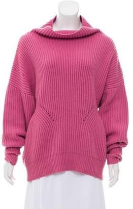 Burberry Cashmere-Blend Oversize Sweater