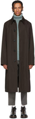 Ami Alexandre Mattiussi Brown Oversized Mac Coat