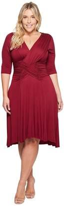 Kiyonna Refined Ruched Dress Women's Dress