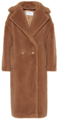 Max Mara Teddy camel hair-blend coat