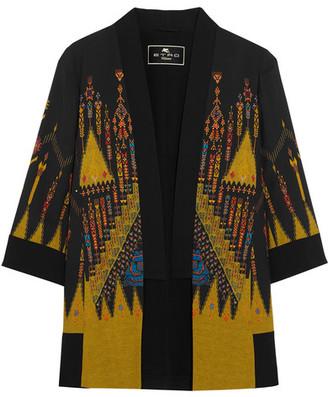 Etro - Printed Crepe Jacket - Black $1,930 thestylecure.com