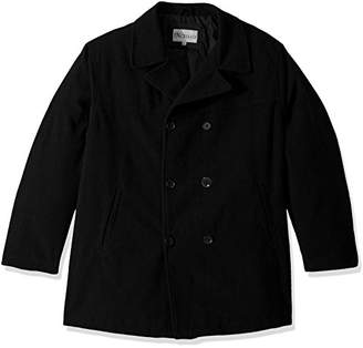 Excelled Men's Big Polyester Peacoat