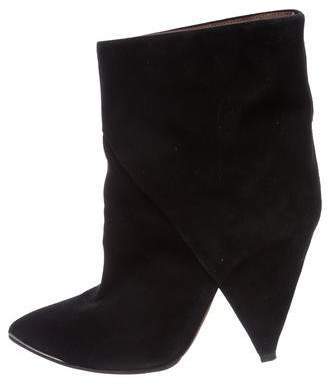 IRO Suede Pointed-Toe Boots