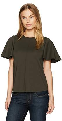 Ellen Tracy Women's Size Flounce Sleeve Top