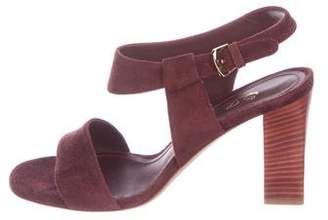 Loro Piana Suede Ankle Strap Sandals