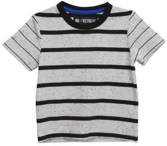 No Retreat Boys' Short Sleeve Double Stripe T-Shirt