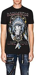 DSQUARED2 Men's Logo-Rock-Tour-Graphic Cotton T-Shirt-Black Size S
