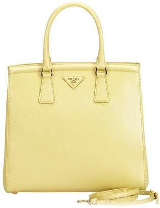 f98f714cba Prada Yellow Saffiano Leather Handbags - ShopStyle