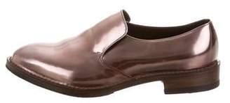 Brunello Cucinelli Metallic Leather Oxfords w/ Tags