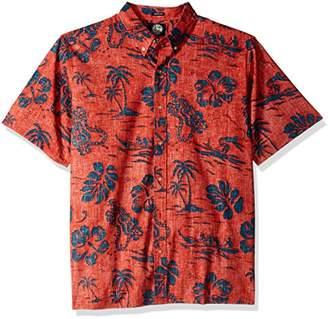 Reyn Spooner Men's Quiet Lagoon Kloth Classic Fit Hawaiian Shirt