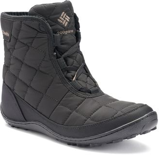 Columbia Crystal Shorty Lace Thermal Coil Women's Waterproof Winter Boots $110 thestylecure.com