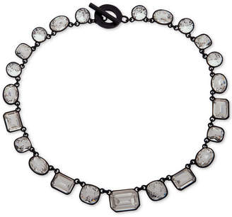 "DKNY Black-Tone Crystal 17"" Collar Necklace"