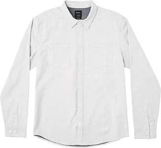 RVCA Men's Second Look Flannel Long Sleeve Woven Shirt