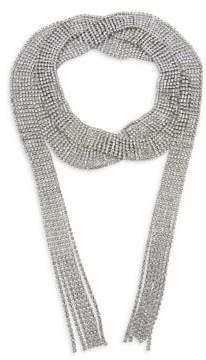 CRISTABELLE Crystal Wrap Choker Necklace