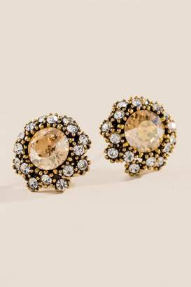 francesca's Marley Stud Earrings - Champagne