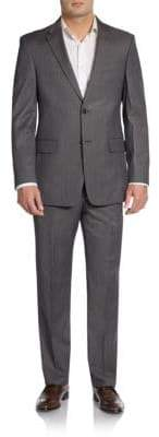 Tommy Hilfiger Slim-Fit Striped Wool Suit