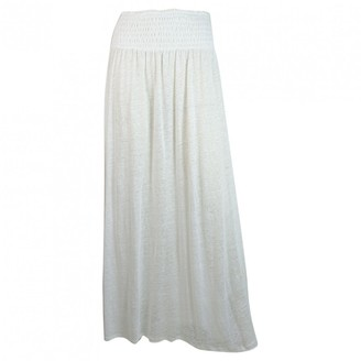 Majestic Filatures White Linen Skirts
