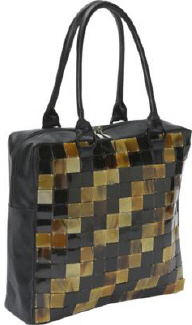 Global Elements Buffalo Horn Zig Zag Tote