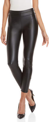 Rebecca Minkoff Black Chip Faux Leather Leggings