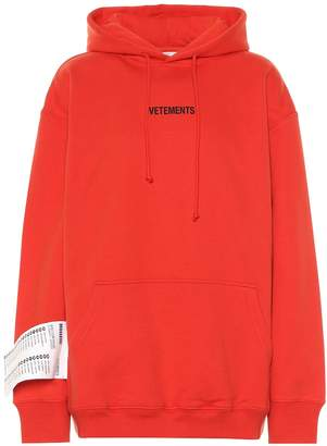 Vetements Logo cotton hoodie