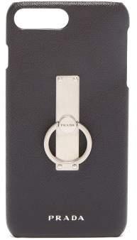 Prada Iphone 8 Plus Leather Case - Mens - Black