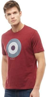 Ben Sherman Check Target T-Shirt Wine Marl