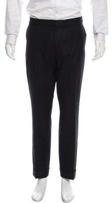 Dries Van Noten Flat Front Dress Pants