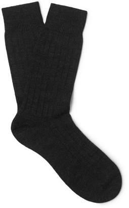Pantherella Packington Ribbed Merino Wool-Blend Socks