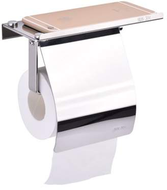 Estink Wall Mounted Tissue Holder, SUS304 Stainless Steel Bathroom Toilet Paper Holder with Mobile Phone Holder