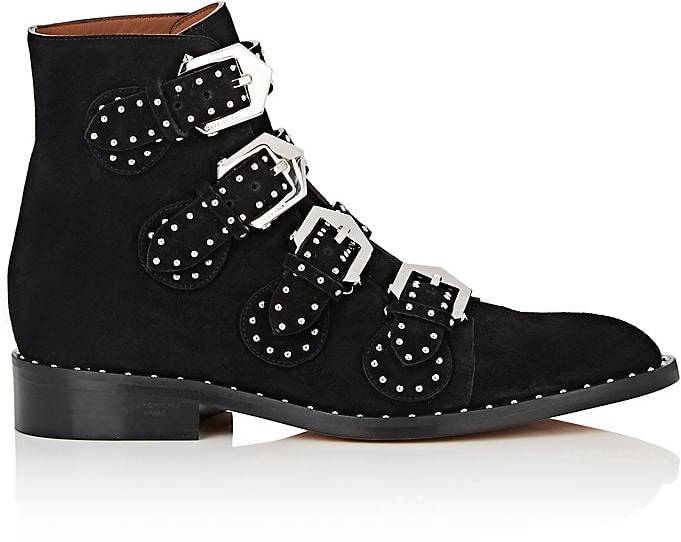 Givenchy Women's Elegant Studded Suede Ankle Boots