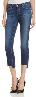 AG Stilt Crop Jeans with Raw Step Hem - 100% Exclusive $215 thestylecure.com