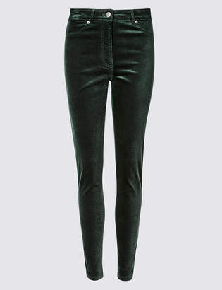 M&S Collection Mid Rise Skinny Leg Trousers
