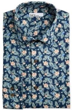 Bar III Men's Classic/Regular-Fit Tropical Hibiscus-Print Dress Shirt, Created for Macy's
