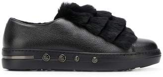 Baldinini layered fur sneakers