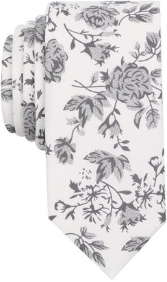 Bar Iii Men's Mystic Rose Print Skinny Tie, Created for Macy's $55 thestylecure.com