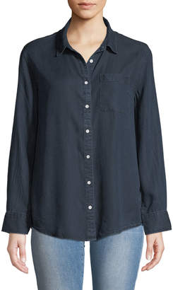 DL1961 Premium Denim Nassau & Manhattan Lace-Up Button-Front Shirt