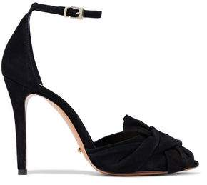 Schutz Natally Knotted Suede Pumps