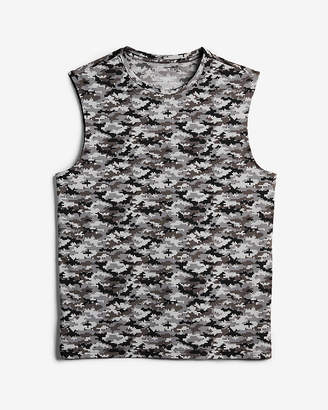 Express Camo Print Moisture-Wicking Performance Muscle Tank
