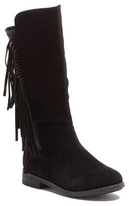 OLIVIA MILLER Fringe Knee-High Boot (Little Kid & Big Kid)