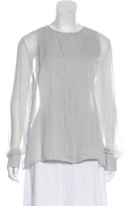 The Row Silk Pleated Blouse Silk Pleated Blouse