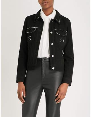 The Kooples Stud-detail suede jacket