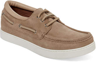 Gianvito Rossi Stone Suede Boat Shoes