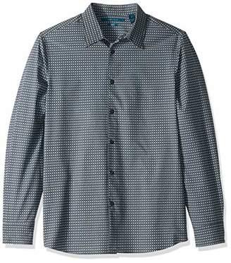 Perry Ellis Men's Slim Fit Print Total Stretch Shirt