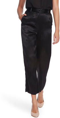 1 STATE 1.STATE Floral Jacquard Wide Leg Pants