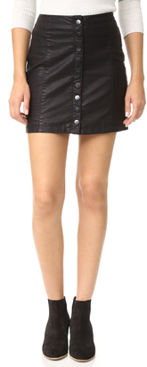 Free People Oh Snap Vegan Leather Miniskirt $78 thestylecure.com