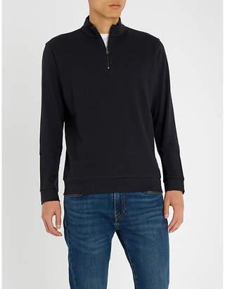 BOSS Zip-up cotton-jersey sweatshirt
