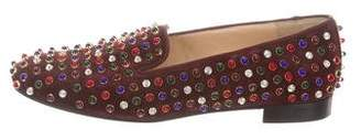 Christian Louboutin Embellished Suede Loafers