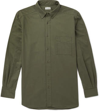 Camoshita Button-Down Collar Cotton Shirt